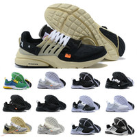 753ba842e2ef 2018 Nouveau nike air max Off White Presto V2 Ultra BR TP QS Noir Blanc X  Chaussures de Course Pas Cher Sport Femmes Hommes a Prestos de Basketball  Sneakers