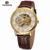 relógio de luxo vencedor venda por atacado-Vencedor Relógios Homens Couro Mecânico Strap Watch Luxo olden Esqueleto Preto Masculino Relógio De Pulso Mão Relogio De Vento Relogio