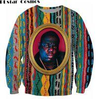 biggie sweatshirts großhandel-PLstar Cosmos Sweatshirt Notorious B.I.G. Pullover Biggie Smalls Charakter print Sweats Fashion Kleidung Frauen Männer Pullover