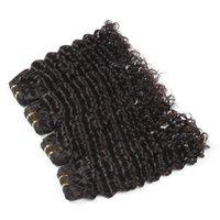 1b de negro al por mayor-Brillante 6a # 1B Off Color negro pelo virginal que teje 100g / 1pcs 10-30 Incs Malasia Profundo Wave Remy Extensión del pelo 100% tejido humano del pelo