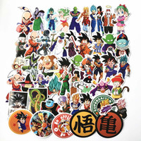 motosiklet etiketleri çıkartmaları toptan satış-50 adet / paket Karışık Dragon Ball Anime Sticker Araba Dizüstü Kaykay Pad Bisiklet Motosiklet PS4 Telefonu Çıkartması Pvc Çıkartmalar