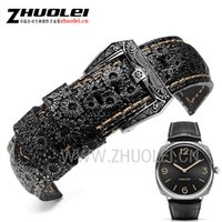 роскошные ремешки для часов 22 мм оптовых-High-quality  Band 22mm 24mm 26mm Retro Watchband Watch Strap For PAM mens wrist-watches band leather bracele