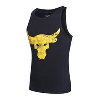 Wholesale high neck sleeveless tops - Brand Designer Men T Shirt Summer High Street Fashion Breathable Sleeveless Shirts Men High Quality Cotton Blend Tshirt Casual Top Tees