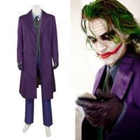 ritter sitzt großhandel-Batman The Dark Knight Joker Cosplay Kostüm voller Satz