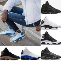 Wholesale italy designer shoes - Mens Designer 2018 13 Basketball Shoes Italy Blue Hyper royal Black Cat Olive Men 13s Sports Trainers Altitude Love Respesct US 8-13