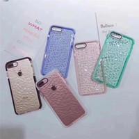 étuis de téléphone en strass colorés achat en gros de-Pour iPhoneXS XR Xs Max De Luxe Coloré Pierre Full Big Diamond Case Bling iphone6S 8 plus 7 7plus cas de téléphone paillettes strass Crystal Cases
