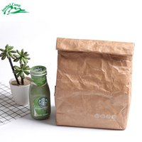 ingrosso marrone termico-Jeebel 6L Thermal Lunch Box Cooler Bag isolato Tyvek Brown Paper Color Riutilizzabile Handy Bag Durable isolata Picnic portatile