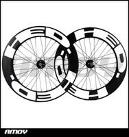 ruedas fijas al por mayor-Envío gratis 25mm ancho HED pintura 88mm Profundidad del engranaje fijo ruedas de carbono de carbono completo 700C bicicleta de carretera ruedas de bicicleta