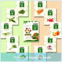 semillas de hortalizas gmo al por mayor-10 Variedades 1000 unids Vegetales Semillas Mezcla de envases Non-gmo Semillas de vegetales orgánicos Supervivencia Heirloom Home Garden Fácil de cultivar