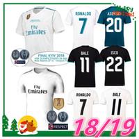 Wholesale Real Football Jerseys - 2018 madrid Jersey Benzema Ronaldo ASENSIO football Soccer Modric Kroos Sergio Ramos Bale Marcelo 18 19 Champions League Real Madrid shirts