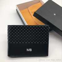 Wholesale open small business - Men's Leather Fashion Business Wallet Short MT Clip MB Premium Gift Bag Credit Card Holder Pocket Photo M B High Quality Small Wallets