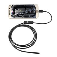 Wholesale led borescope resale online - LESHP M mm Lens USB Cable Mini Inspection Camera Snake Tube Waterproof Endoscope Borescope with LED for Android Phone PC