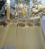 Wholesale pervian weave for sale - Group buy Blonde Color Pervian Hair Straight Human Hair Weave Bundles Tangle Free g piece free DHL