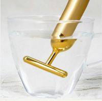 barra de masaje facial al por mayor-Tecnología de Japón 24K Barra de belleza Golden Derma Roller Energy Masajeador facial Cuidado de la belleza Masaje facial con vibración Eléctrico