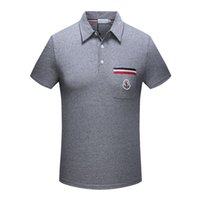 Wholesale Polo Neck Dress - New Arrive 2018 men shorts sleeve Polo shirts Popular Cotton embroidery Wheat Polos Custom Designer made Fred Dress shirts size M-3XL 1577