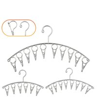 porte-serviettes en acier inoxydable achat en gros de-Clip pratique de chaussettes d'acier inoxydable coupe-vent créatif pratique pour le sèche-serviettes de soutien-gorge crochets multifonctionnels durables étendus 3 4kws Z