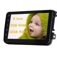 chinesisch multimedia großhandel-8 '' Autoradio Doppel 2 Din Auto DVD Multimedia Player Android 7.1 Hauptgerät 2 GB RAM GPS Navigation Stereo Bluetooth FM AM