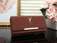 Wholesale organic sales - Hot sale 2018 women MICHAEL KALLY famous brand fashion hasp Y wallet cheap luxury designer women pu leather wallet lady ladies plaid purse