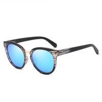 kadın s yuvarlak güneş gözlüğü toptan satış-Toptan Moda Polarize Yuvarlak Güneş Gözlüğü Renkli Lens Serin Erkekler Ve kadın Güneş Gözlüğü Rahat Gözlük Trendy UV400 Güneş Gözlükleri