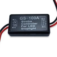 Wholesale led strobe brake light - Flash Strobe Controller GS-100A Flasher Module for LED Incandescent Brake Tail and Stop Light Lamp Flash Strobe Flasher