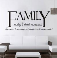 modern duvar harfleri toptan satış-Yüksek Kaliteli Aile Duvar Çıkartmaları Tırnaklar Vinil Kendinden yapışkanlı Harfler ve Kelimeler Duvar Sanatı Çıkartmalar Oturma Odası Yatak Odası Dekorasyon için
