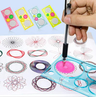Wholesale learn arts online - Spirograph Geometric Ruler Learning Drawing Tool Stationery for Student Drawing Set Creative Gift