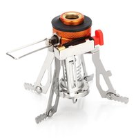 Wholesale Field Piece - Ultra light Backpacking Portable Windproof Stove Burner with Piezo Ignition for Outdoor, Backpacking, Hiking Gas Stove Camping Stove