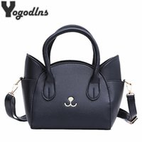 Wholesale cat embroidery bags for sale - Group buy Fashion Style PU Leather Ladies Cute Handbags New Arrival Large Shoulder Bag Wings Bag Cat Messenger Bag High Quality D18101303