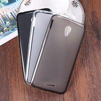 caso de alcatel carteira venda por atacado-1 pc / tpu gel tampa da caixa traseira para alcatel u50 pudim case casos de telefone macio + anel suporte