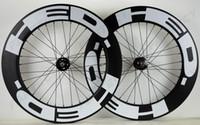 vitesli bisiklet karbonunu sabitleyin toptan satış-HED 700C Parça bisiklet karbon jantlar sabit dişli sokak 88mm derinlik 25mm genişlik bisiklet kattığı / Tübüler karbon tekerlek U-şekli jant