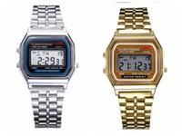 f électronique achat en gros de-Marque de mode LED montres F-91W Hommes Femmes Montre électronique Montre numérique avec LED BackLight Luxe Business Hommes Horloge Réglable Bracelet en alliage