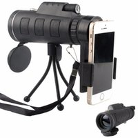 Wholesale Zoom Scope - 40x60 HD Zoom Optical High Power Magnification Monocular Scope Telescope With Phone Holder and Tripod For All Phone