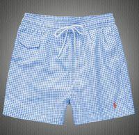 Wholesale dotted clothing - 2018 Wholesale-Summer Men Short Pants Brand Clothing Swimwear Polyester Men Brand Beach Shorts Swim Wear Board Shorts