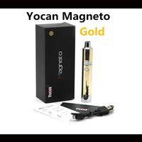 Wholesale new magneto resale online - 100 Original Yocan Magneto Gold Kit E Cigarette New Arrival Gold mAh Battery Capacity Kits E cigarette Kits In Stock