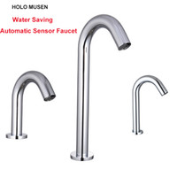 Wholesale Automatic Tap Sensor - Touch Free Water Saving Automatic Infrared Sensor Faucet Bathroom Swan Faucet Automatic Sensor Basin Tap