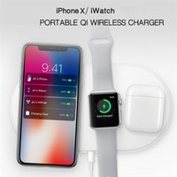 Wholesale Apple Iphone Interface - 2018 newest AirPower wireless charger multifuntional 3 in 1 wireless charger pad with i7 interface for Apple iphone and iwatch
