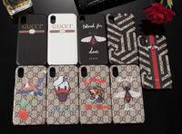 ingrosso casi animali per iphone-Vogue Custodia per telefono per IPhone XS MAX XR X 8 7 6plus 6s Plus Bee Snake Fiore di farfalla Modello animale Custodia per smartphone per IPhoneX 8P 7Plus