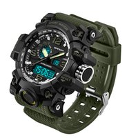 Wholesale military diving watches - 2018 SANDA Men's Military Sport Watch Men Top Brand Luxury Famous Electronic LED Digital Wrist Watch Waterproof Dive Climbing Wrist Watches