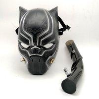 mascarillas de acrilico al por mayor-Panther Creative Acrylic Gas Mask Silicona bongs Dab Rig Tubos de silicona con Art Bong Creative Smoking Pipe