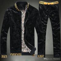 höchste qualität passt großhandel-Hochwertige Herren Sweatshirts Sweat Suit Markendesign Kleidung Trainingsanzüge für Männer Jacken Sportbekleidung Sets Jogginganzüge