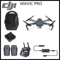 Wholesale Dji Drone - DJI Mavic Pro 4K HD Camera Fly More Combo Folding FPV Drone With OcuSync Live View GPS GLONASS System RC Quadcopter DHL Free