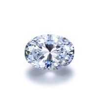 ingrosso pietra 4mm-0.1Ct ~ 8.0Ct (2 * 4MM ~ 10 * 14MM) Taglio ovale con certificato D / F Colore VVS Chiarezza perfetto 3EX Taglio sciolto sintetico Lab Diamond Moissanite Stone