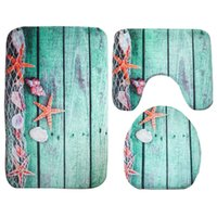 Wholesale butterfly seat covers online - 3D Cute Animal Blue Butterfly Print starfish sunflower Toilet Seat Covers Rugs U Shape Floral Bathroom Small Carpet Floor Feet Bathmats