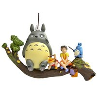 Wholesale totoro action figures - Cute Lovely Totoro Tree Truck Action Figure Collectible Toys Dolls Child Toys Christmas Gifts