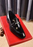 mocasines de vestir de cuero para hombres al por mayor-2019 Nuevos hombres de cuero genuino Oficina de negocios Oxfords mocasines casuales caballeros zapatos de diseñador de la marca Zapatos Hombre tamaño 38-44
