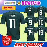 Wholesale Green Batch - DHL Free shipping 2018 Mexico Soccer Jersey Home 18 19 Mexico CHICHARITO Camisetas de futbol football shirts Size can be mixed batch