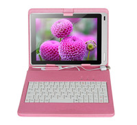 Wholesale keyboard case tablet inches resale online - 7 inch keyboard leather case with stand holder universal tablet keyboard case