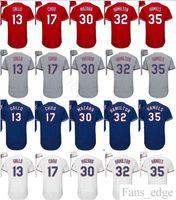 Wholesale Blue Shin - 2018 Cheap #13 Joey Gallo 17 Shin-Soo Choo 25 Jonathan Lucroy 30 Nomar Mazara 32 Josh Hamilton 35 Cole Hamels Stitched Baseball Jersey