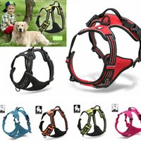 Wholesale harness pull - 6 Colors Outdoor No-pull Pet Dog Harness Reflective Adventure Puppy Vest Padded Handle AAA492
