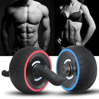 equipo de gimnasio del brazo al por mayor-Fitness Abdominal Wheel AB Roller con colchoneta para ejercicios sin ruido Entrenador muscular Gym Arm Leg Body Body Slimming Fitness Equipment